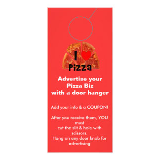 Advertising DOOR HANGER promotion tags Rack Cards