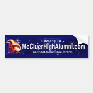 Advertising for www.mccluerhighalumni.com bumper sticker
