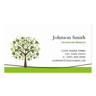Advertising Manager - Elegant Wish Tree Pack Of Standard Business Cards