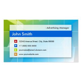 Advertising Manager - Modern Multipurpose Business Card Templates