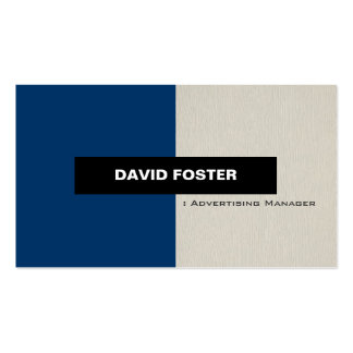 Advertising Manager - Simple Elegant Stylish Pack Of Standard Business Cards