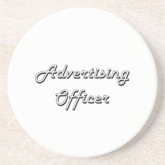 Advertising Officer Classic Job Design Drink Coaster