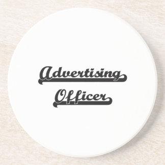 Advertising Officer Classic Job Design Drink Coaster