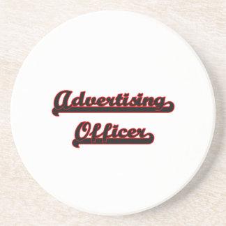 Advertising Officer Classic Job Design Beverage Coasters