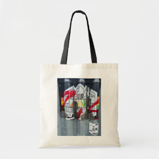Advertising On Corrugated Fence Tote Bag