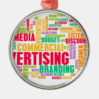 Advertising Online and in Traditional Media Method Metal Ornament