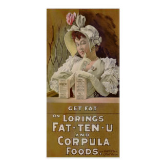 Advertising Poster for Get Fat Food Tablets