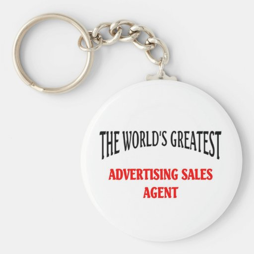 Advertising sales agent key chains