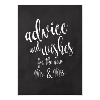Advice and Wishes Affordable Chalkcoard Sign Card