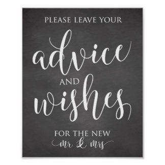 Advice and Wishes Wedding Decor Sign