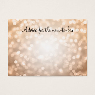 Advice Card Baby Shower Copper Glitter Lights