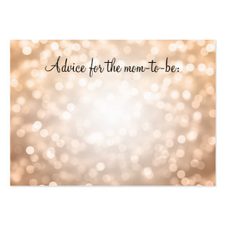 Advice Card Baby Shower Copper Glitter Lights Pack Of Chubby Business Cards
