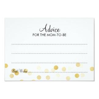 Advice Card Baby Shower Gold Foil Glitter Lights 9 Cm X 13 Cm Invitation Card