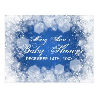 Advice Card Baby Shower Night Sparkle Blue Postcard