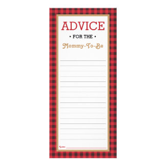 Advice Card for Mum-To-Be, Little Man Baby Shower Rack Card Template