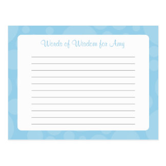 Advice Card / Words of Wisdom - Rubber Duck - Blue Postcard