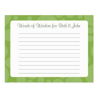Advice Card/Words of Wisdom - Rubber Duck - Green Postcard