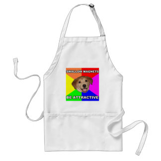 Advice Dog Swallow Magnets Adult Apron