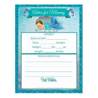 Advice for Mommy Baby Shower Cards Postcard