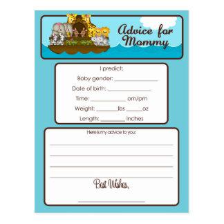 Advice for Mommy card Noah's Ark Baby Shower