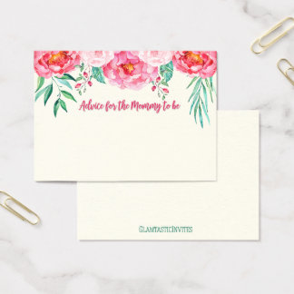 Advice for Mum Card, Mum-to-be, Floral Card