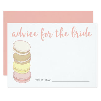 Advice for the Bride Cards | French Macarons