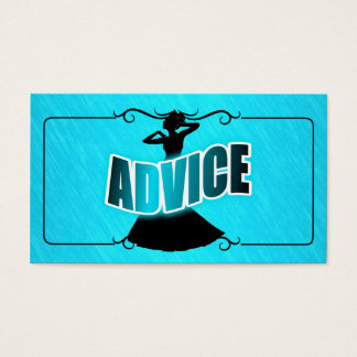 Advice for the Bride & Teal Business Card
