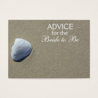 Advice for the Bride to Be Beach Sea Shell Cards