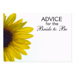 Advice for the Bride to Be Giant Sunflower Cards Business Card Templates