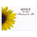 Advice for the Husband to Be Giant Sunflower Cards Pack Of Chubby Business Cards
