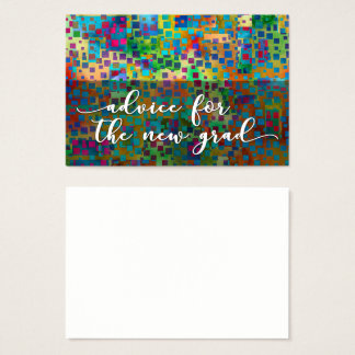Advice for the New Grad, Colorful Confetti, 2 Business Card