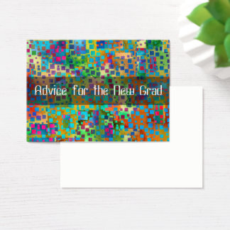 Advice for the New Grad, Colorful Confetti Business Card