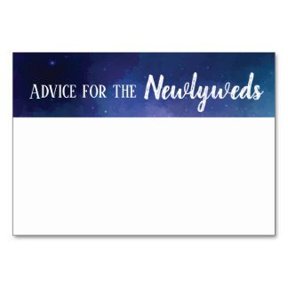 Advice for the newlyweds galaxy notecard card
