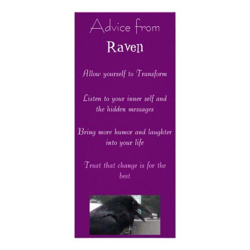 Advice from a Raven Spirit bookmark Rack Card Design