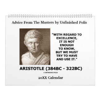 Advice From The Masters by Unfinished Polis Calendars