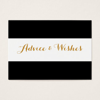 Advice & Wishes Wedding Cards
