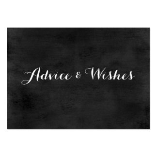 Advice & Wishes Wedding Cards | Chalkboard Pack Of Chubby Business Cards