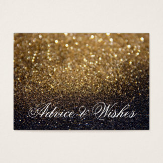 Advice & Wishes Wedding Cards - Gold Lit Nite