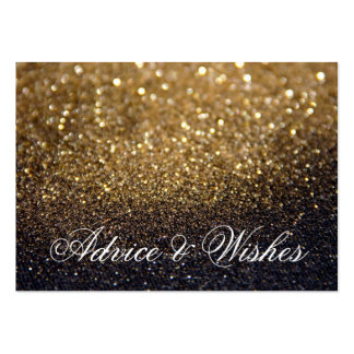Advice & Wishes Wedding Cards - Gold Lit Nite Pack Of Chubby Business Cards