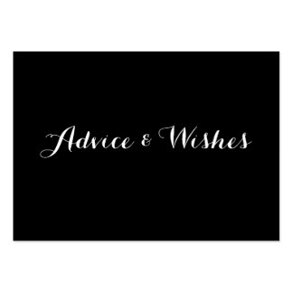 Advice & Wishes Wedding Cards Pack Of Chubby Business Cards
