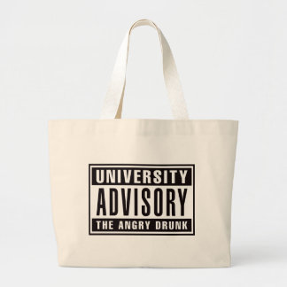 Advisory The Angry Drunk Large Tote Bag