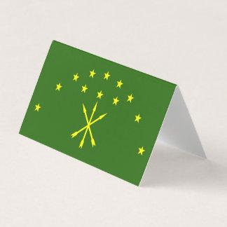 Adygea Flag Business Card