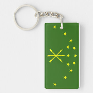 Adygea flag russia country republic region Single-Sided rectangular acrylic key ring