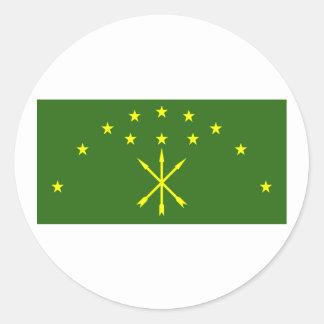 Adygea, Russia Round Sticker