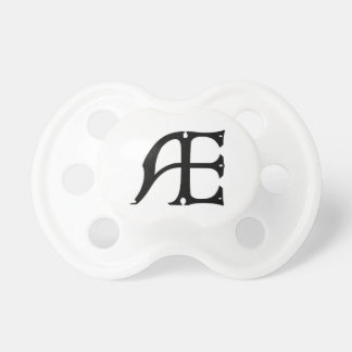 AE Monogram - Initials AE in Gothic Style Letters Pacifier