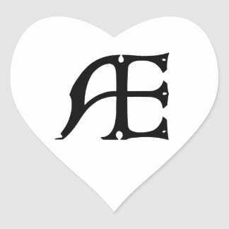 AE Monogram - Initials AE in Gothic Style Letters Stickers