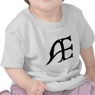 AE Monogram - Initials AE in Gothic Style Letters Shirt