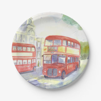 AEC Routemaster bus paper plate 7 Inch Paper Plate