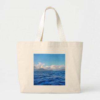 Aegean Blue Large Tote Bag