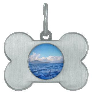 Aegean Blue Pet Name Tag